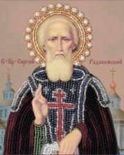 Св. Сергий Радонежский. Размер - 11 х 14 см.