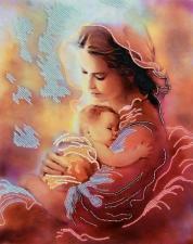 Материнская любовь. Размер - 26 х 32 см.
