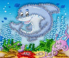 Подводное царство. Размер - 8 х 7 см.