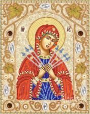Пресвятая Богородица Семистрельная. Размер - 14 х 18 см.