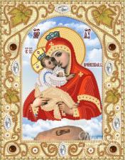 Почаевская икона БМ. Размер - 14 х 18 см.