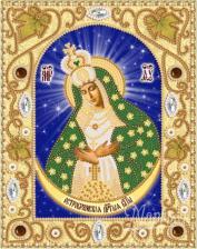 Богородица Остробрамская. Размер - 14 х 18 см.