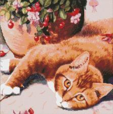 Рыжий кот. Размер - 46 х 46 см.
