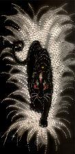 Чёрная пантера. Размер - 34 х 67,5 см.
