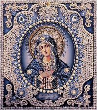 Богородица Умиление (1). Размер - 21,5 х 24,5 см.