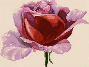 Роза в алмазах. Размер - 55 х 40 см.