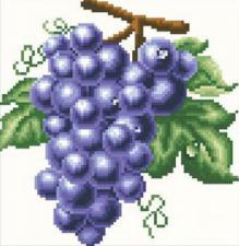 Виноград. Размер - 25 х 25 см.