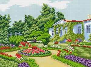 Летний сад. Размер - 54 х 40 см.