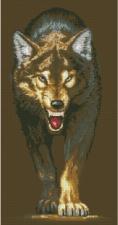 Волчица. Размер - 33 х 63 см.