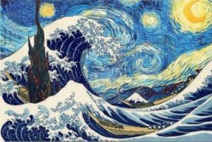 Большая волна. Размер - 60 х 40 см.