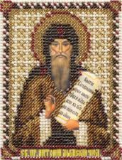 Икона Пр. Антоний Дымский. Размер - 8,5 х 10,5 см.