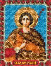 Икона Св. Вмч. Георгий. Размер - 8,5 х 11 см.