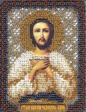Икона Св. Алексий,человек Божий. Размер - 8,5 х 10,5 см.