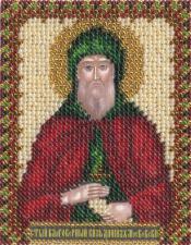 Икона Св. Блг. Даниил. Размер - 8,5 х 10,5 см.