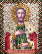 Икона Св. кн. Александр Невский. Размер - 8,5 х 10,5 см.