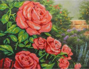 Красные розы. Размер - 35 х 28 см.