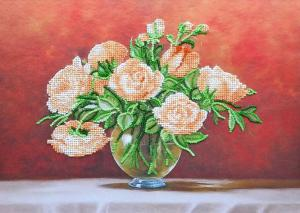 Чайные розы. Размер - 33 х 24 см.