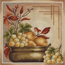 Грозди спелого винограда. Размер - 31 х 31 см.