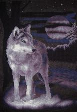 Белый волк. Размер - 24,5 х 36 см.