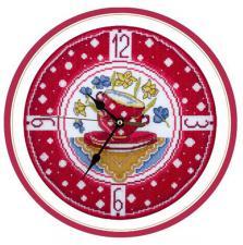 Часы для уютной кухни. Размер - 25 х 25 см.