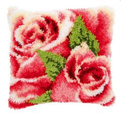 Розовые розы. Размер - 40 х 40 см.