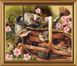 Птичий календарь.Весна. Размер - 23 х 19 см.