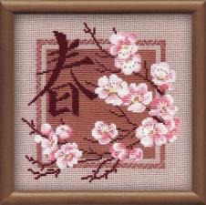 Иероглиф.Сакура (Весна). Размер - 20 х 20 см.