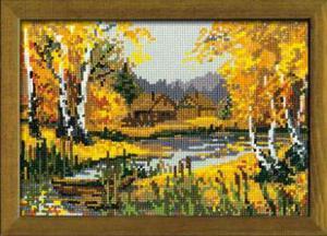 Осенний пейзаж. Размер - 21х15 см