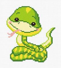 Змейка. Размер - 11 х 12 см.
